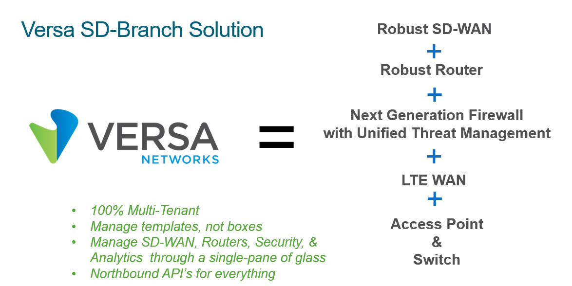 Versa SD-WAD & SD-Secure